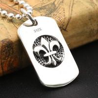 Nuovissimo 925 argento sterling argento vintage gioielli antico argento fatto a mano designer solido sterling argento croce solo ciondolo fiore pendente