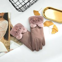 Wholesale-Women's Bear Bear Gloves Fashion Apertura Diseño Invierno Ladies Guantes de moda elegante suave Mittens