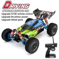 WLToys 144001 RC Auto RTR High Speed ​​Drift Racing Auto 4WD Upgrade Metallteile 120A ESC 3300KV Brushless Motor GT3B Fernbedienung 201223