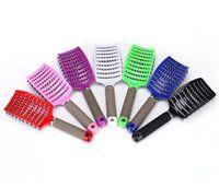 Unverzichtbares Kit für Frauen Hair Scalp Massage Kamm Borsten Nylon Haarbürste Nass Curly Detangle Haarbürste Für Salon Friseurstyling T