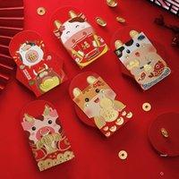 Estilo chino Bolso Lucky Bolsa Money Bolsa de dinero Sobres Dibujos animados Hongbao Dibujos animados Año Nuevo Regalos Concreto Holder Papel Papeles rojos