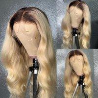الدانتيل الباروكات أومبير البني 13x4 الجبهة شعر الإنسان سميكة الكثافة كاملة شقراء الجسم موجة 13x6 شعر مستعار للنساء
