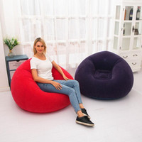 Large Inflatable Sofa Chair Bean Bag Flocking PVC Garden Lou...