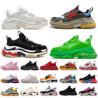 2020 balenciaga triple s sapatos de grife para mulheres dos homens tênis de plataforma preto branco cinza vermelho rosa mens formadores sapatilha moda pai sapato ocasional