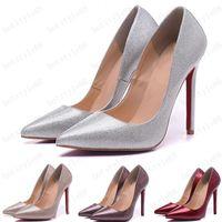 Sıcak 2020 Yani Kate Stilleri 8 CM 10 cm 12 cm Yüksek Topuklu Ayakkabı Kırmızı Alt Çıplak Renk Hakiki Deri Noktası Toe Pompaları Kauçuk Boyutu 35-45