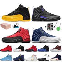 Nike Air Jordan 12 Jordan Retro 12 12s Toptan satış kutusu erkek jumpman 12 basketbol ayakkabı Üniversitesi Altın Koyu Concord Grip oyunu Indigo Mens Eğitmenler