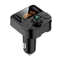 Kit de voiture de transimpattage FM Bluetooth Handsfree Calling Portable TF Carte U-Disk Lecteur MP3 avec chargeur de voiture rapide USB
