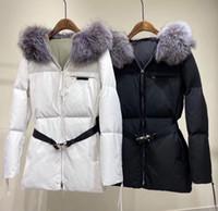المرأة desinger الشتاء الطويل ستر أزياء المرأة الشتاء الملابس سترة واقية طويلة أسفل معطف مع حزام أسود اللون حجم s m l xl