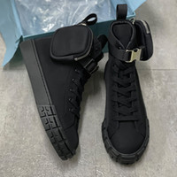 New Luxurys 디자이너 휠 Re-Nillon Sneaker Mens 여성 높은 탑 전투 운동화 플랫 레이스 업 신발 Fahion 트레이너 최고 품질 260