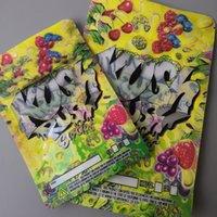 Zwei größe Kush Rush Exotics Taschen wiederveralable Reißverschlusssiegel für Frische kinderfeste Blumen Verpackung 3,5g oder 7g Mylar Taschen Kush Rush Mylar Bagsgh