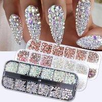 1440 stücke Bunte Kristall Steine Nagel Strass Diamant 3D Flatback Glitter Strass Edelsteine Nail art Dekorationen Zubehör TR1831