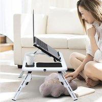 Almofadas de refrigeração de laptop Multi-funcional mesa de notebook stand-up dobrando suporte de computador usb