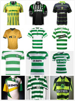 Retro 1980 1991 1991 1995 1997 1998 1999 Celtic Fussball Trikots 95 96 97 99 Larsson Nakamura Keane 91 92 Celtic Yellow Sutton Football Hemden