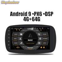 لاعب HD PX6 IPS DSP Android 9.0 4 جيجابايت 64 جيجابايت ROM سيارة دي في دي RDS راديو GPS خريطة واي فاي بلوتوث ل Smart Fortwo 2021