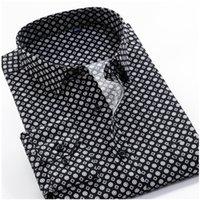 Grande tamanho 8xl 9xl 10xl vrokino marca 2020 cópia floral vintage mangas compridas homens vestido casual moda camisa clássica lj200925