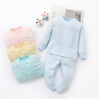 Kid Ribbed Fitted Pajamas Set Boys Girls Pjs Top and Pant Un...
