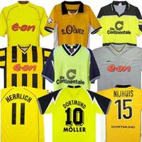 98 99 Retro 01 02 Dortmund Soccer Jerseys 00 02 Classic Football Shirts Lewandowski Rosicky Bobic Koller 95 96 97 Borussia 94 95 12 13 Reus