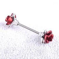 Altro anello capezzolo in acciaio inox anello rosa fiore scudo corpo piercing gioielli per le donne regalo @ 881