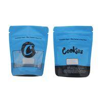 Biscuits bleus Mylar Sacs Californie SF 8ème 3.5g Baggies en plastique Soulier à l'odeur Cadeau Edibles Emballage Zipper Mylar Sac