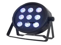 4 adet Yıkama DJ LED RGBWA 5in1 9x15 W Kare LED Par Ligth Sahne Mini LED Düz Par Işıklar için LED