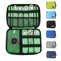 Многофункциональный Электроника Организатор Кабель данных для хранения сумки Портативный Zip водонепроницаемый Траве Кабельный организатор сумка 16colors HHA1678