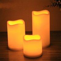 Lámpara de vela LED Onda Boca Electrónica Interruptor Velas Partido Luz Romántico Boda Celebración Artículos Guía Luces Ambiental 5 5CP3 M2