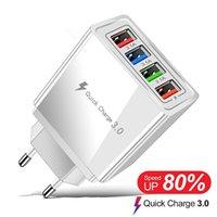 4Usb telefone celular carregador móvel carregador 3a carregador led lâmpada euro standard carregador de phablet frete grátis