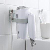 Kancalar Rails Tırnak Ücretsiz Plastik Saç Kurutma Makinesi Blower Tutucu Raf ABS Salon Saç Kurutma Makinesi Standı Banyo Organizatör Kablo Tel Depolama Raf