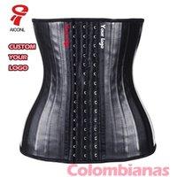 AICONL Latex Taille Formatrice Corset Belly Plus Slim Ceinture Body Body Shaper Sangle de modélisation 25 osseuses en acier Cincher Fajas Colombianas 201223
