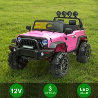 12V дети ездить на автомобиле внедорожник MP3 2,4 ГГц дистанционного управления светодиодным светом двойной привод электрический автомобиль игрушечный подарок