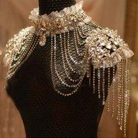Bridal Catena nappa tracolla cinturino sposa perline gioielli di pizzo accessori di cristallo gioielli collana matrimonio jewerly set 201222