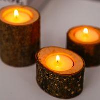 Popular candelabro candelabro vela mesa decoración suculenta planta maceta de boda rústica decoración manual Arte de mobiliario