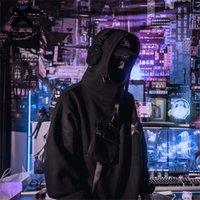 11 BBB Reflexivo Dark Harajuku Hoodie Men Hip Hop Streetwear Hoodie Moletom Camisola Homem Astronauta Fleece Algodão Tops LJ201222