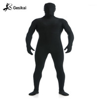 Gesikai Homme Spandex Zentai Lycra complet Body Body Zentai Costume Personnalisé Seconde Skin Collant costume Halloween Costume1