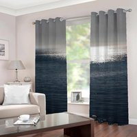 Customized Any Size on the sea nature landscape 3d curtains ...