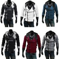 High quality Autumn Winter Mens Fashion Slim Cardigan Hoodies Sweatshirt Male Hooded Sportwear Casual Fleece Jacket 6 Color L-4XL H1026JWQL