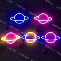 LED néon signe lumière SMD2835 Nuit d'intérieur Planète Espace Mixte Couleur Mixte pour la fête de Noël de Noël Décorations de table de mariage EUB