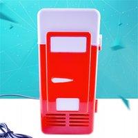 USB بالطاقة لطيف الجليد مربع دفئا مصغرة الثلاجة لسيارة الداخلية الثلاجة العملي 3 الألوان الصلبة اللون مربع التعبئة 58WX E1