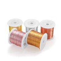 1Roll 0.3-1mm الصلبة colorfast لا تلون الأسلاك النحاسية لا تتلاشى الديكور الحبل الديكور الأسلاك diy للمجوهرات جعل acc wmtnvl