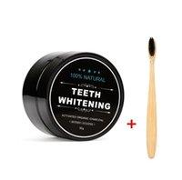 Polvere di sbiancamento dei denti del carbone attivi del dentifricio del dentifricio del dentifricio con la polvere con la spazzola denti del carbone denti denti del dentifricio che sbiancano il dentifricio