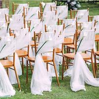 Giardino romantico Sedia da sposa Cover Back Sheshes Banchetto Decor Christful Birthday Birthday Sedie di nozze SEDILE SEA2190