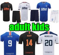 2020 2021 Glasgow Rangers Kids Kit Fussball Jerseys Gerrard Davis Kent Morelos Home 3. Football Hemd Tavernier Kind Kurze Ärmel
