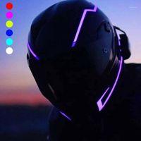 Motorradhelme 2021 Helm Lichtstreifen LED DIY Dekoration Motorrad Sicherheit reflektierende Modifikation1