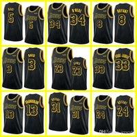 Jersey di pallacanestro Uomini.Los.Angeles.I giocatori del team di Lakers possono personalizzare la stampa nera, premere le maglie personalizzate