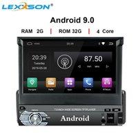 유니버설 1din 안드로이드 9.0 쿼드 코어 자동차 멀티미디어 DVD 플레이어 GPS WiFi BT 2GB 32GB ROM 4G SIM 네트워크 스티어링 휠 RDS FM 자동차 DVD