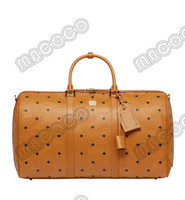 여행자 Visetos 더플 가방 디자이너 주말 가방 45cm 여행 가방 고품질 가죽 수하물 Larage Capcity 야외 팩