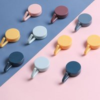 Вискозный крючок сплошной цвет гостиной на стену, висит кухонные пластиковые крючки без сверления, прилипая милые красочные 0 23nz n2