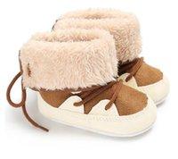 6 pares / 12 unids invierno Cálido First Walkers Baby Tobillo Botas de nieve Infantil Crochet Knit Fleece Baby Shoes para niños Chicas