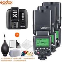3pcs Godox V860IIIIL Batterie au lithium Flash GN60 HSS 1 / 8000SL SpeedLite Flash + X1T déclencheur pour Fuji1