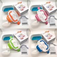 Split-Stil-Dinner-Eimer-Kunststoff-Edelstahl-Boxen tragbare Schnappverschluss Multi-Farbe-Quadrat-Lunchbox-Entlüftungsloch 22HB L2